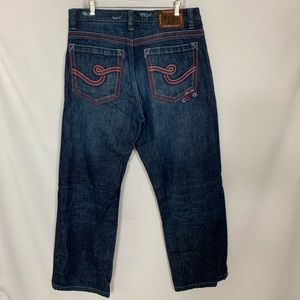 COOGI JEANS Size W36 L32 Embroidered Pockets